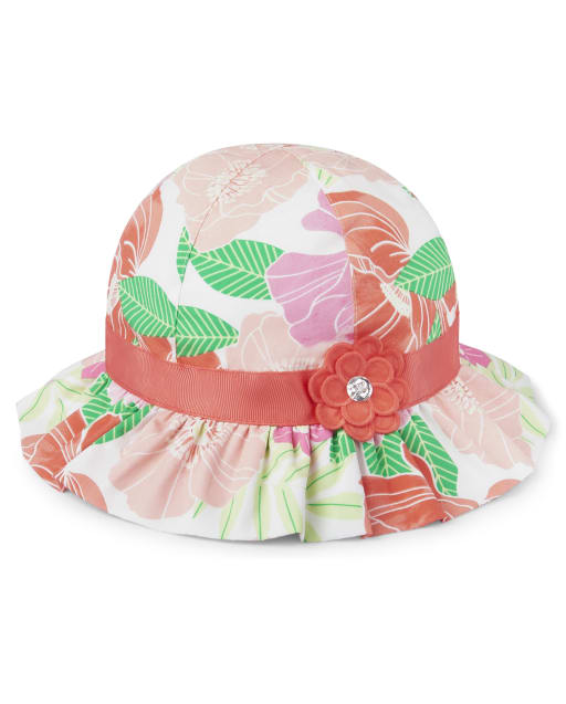 Girls Floral Print Bucket Hat - Fairy Blossom