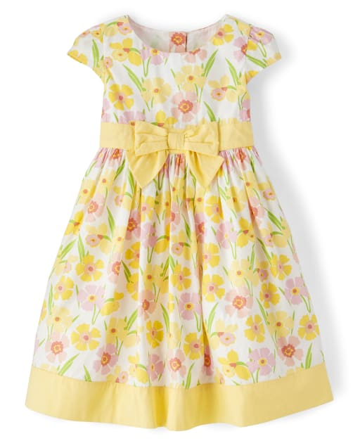 Size 7 Gymboree Yellow White Floral Spring Dress Girls
