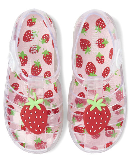 Girls Strawberry Jelly Sandals - Strawberry Patch