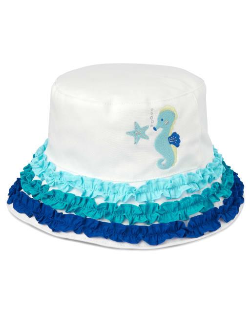 Girls Seahorse Bucket Hat - Under The Sea