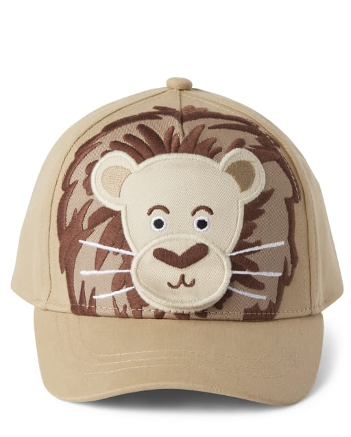 Boys Peek-A-Boo Flap Art Lion Hat - Summer Safari
