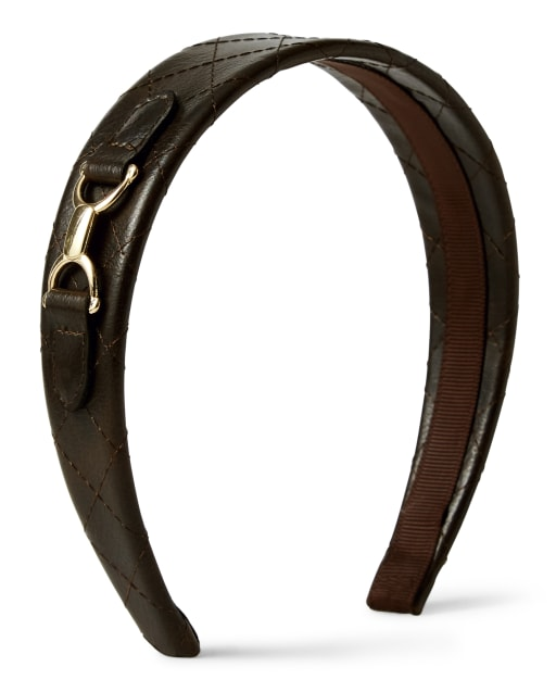 Girls Quilted Headband - Pony Club