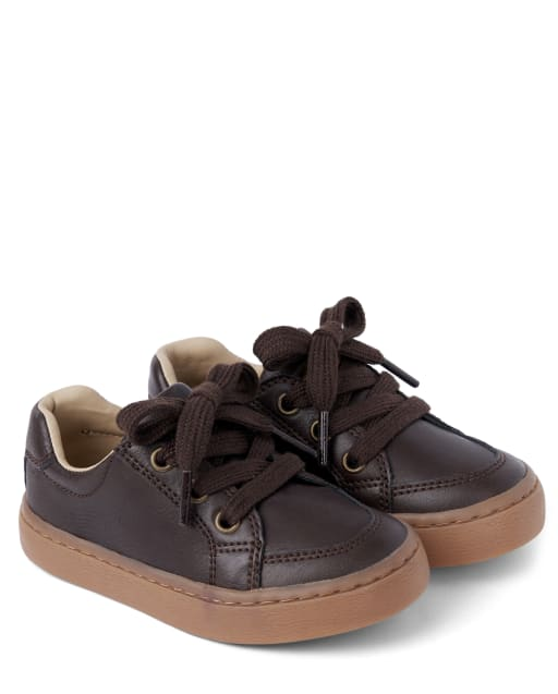 Boys Faux Suede Low Top Sneakers - Harvest