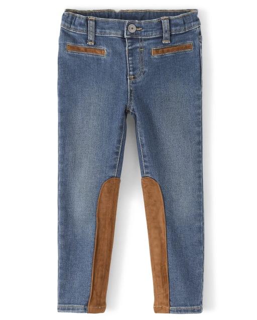 Jeans con piezas de ante para niñas - Pony Club