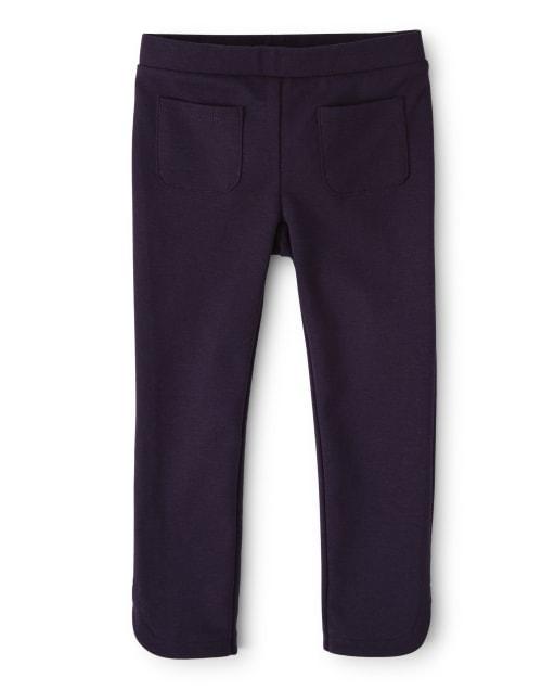 Girls Ponte Knit Pants - Berry Cute