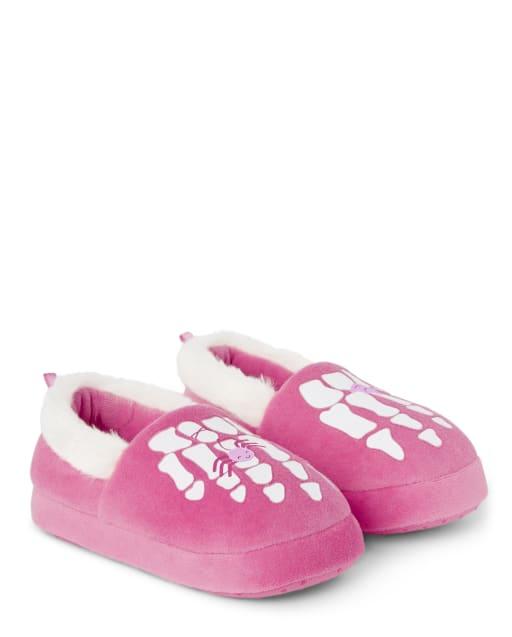 Girls Skeleton Slippers - Gymmies