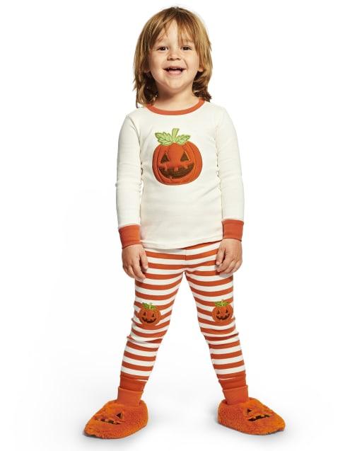 Boys Long Sleeve Lil' Pumpkin Snug Fit Cotton 2-Piece Pajamas - Gymmies