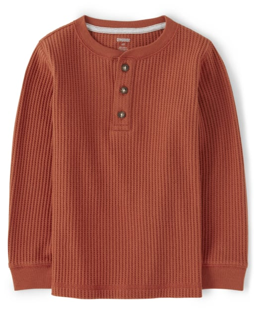 Boys Long Sleeve Thermal Henley Top - Every Day Play