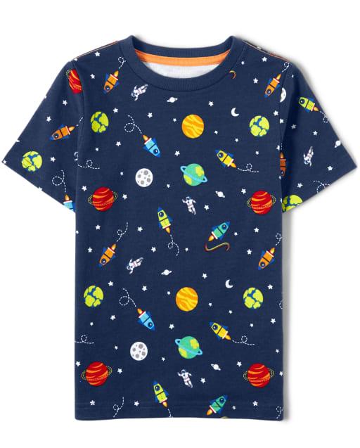 Unisex Short Sleeve Space Print Top - Future Astronaut