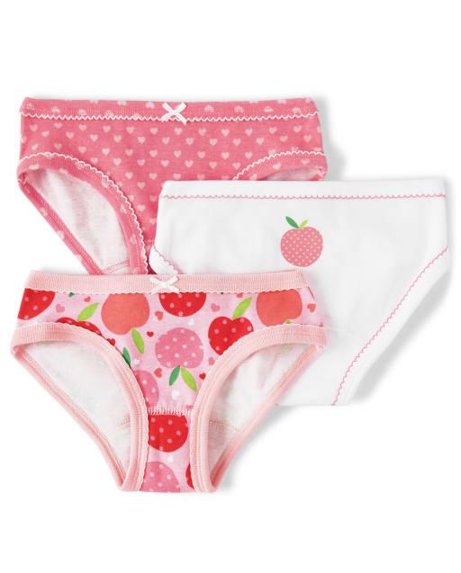 Girls Peach Briefs 3-Pack