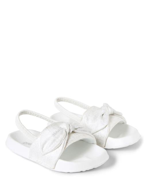 Girls Sparkle Bow Sandals