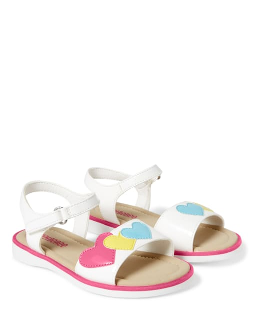 Girls Glitter Heart Sandals - Sunshine Time
