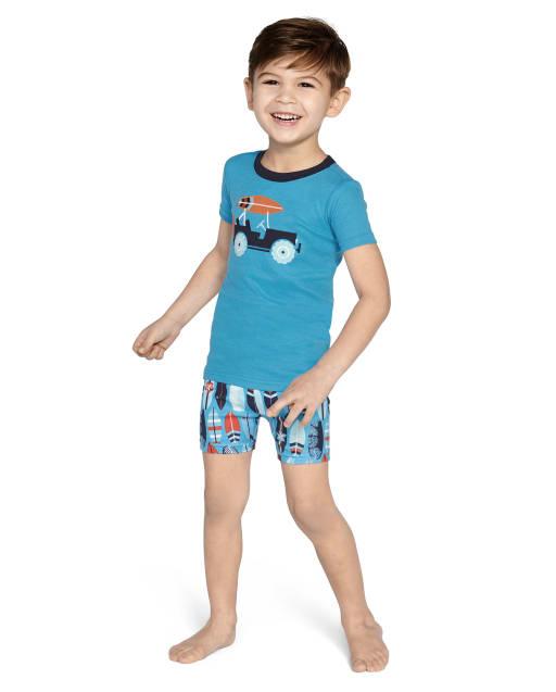 Pijama de 2 piezas de algodón de surf de manga corta para niños - Gymmies