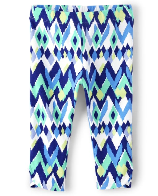 Girls Ikat Print Knit Capri Leggings - Island Getaway