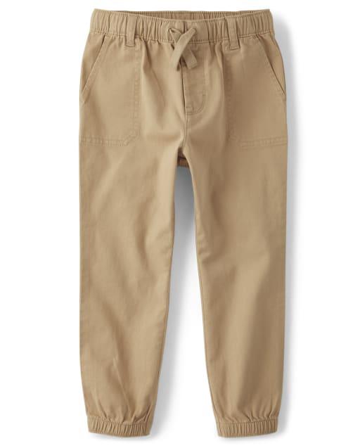Pantalones de chándal de sarga sin tirantes para niños