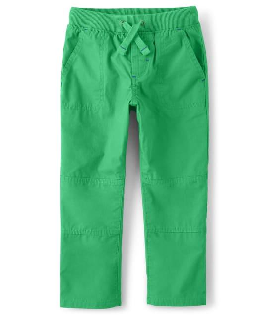 Boys Poplin Pull On Pants - Dino Dude