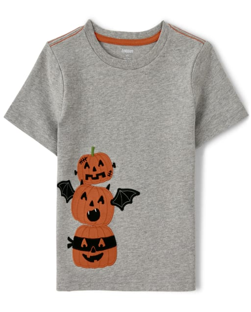 Boys Short Sleeve Jack-O-Lantern Top - Lil Pumpkin