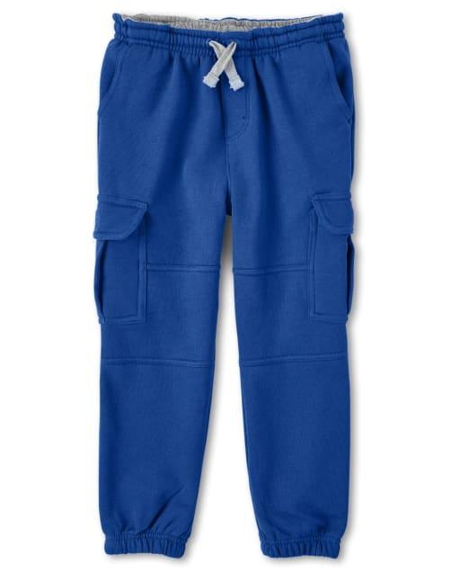 Boys Fleece Pull-On Cargo Jogger Pants - Dino Dude