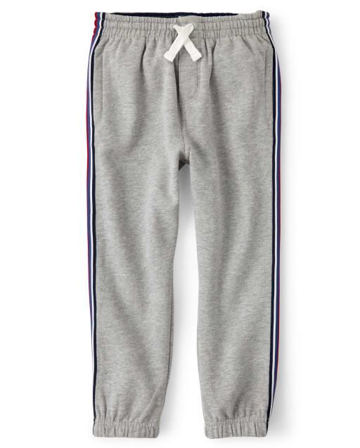 Boys Side Stripe Fleece Jogger Pants - Future MVP