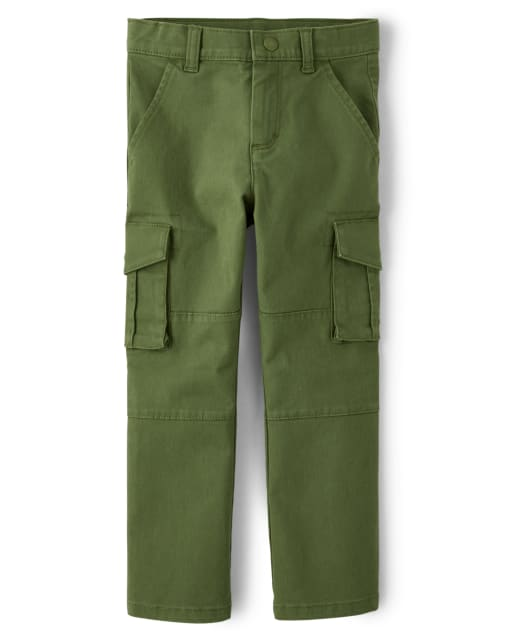 Boys Twill Cargo Pants - Critter Campout