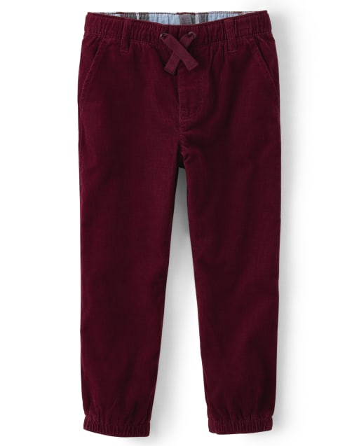 Boys Corduroy Pull-On Jogger Pants - Critter Campout