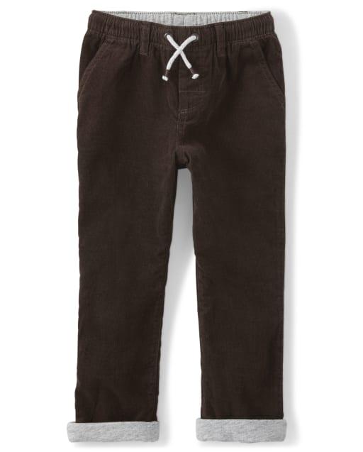 Pantalones de pana enrollados para niños