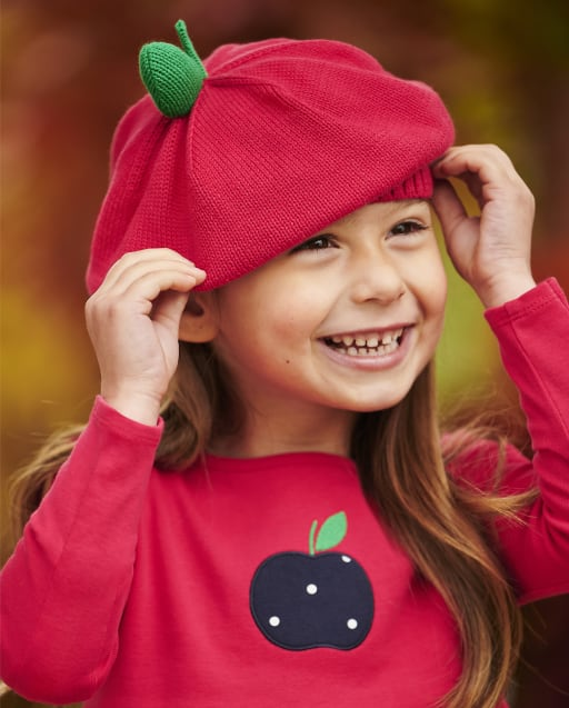 Boina de manzana para niñas - Favorito del '