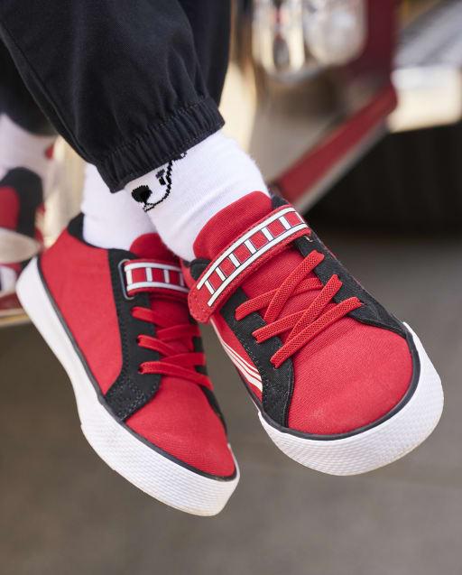 Zapatos deportivos de caña baja Fire Truck para niños - Jefe de bomberos