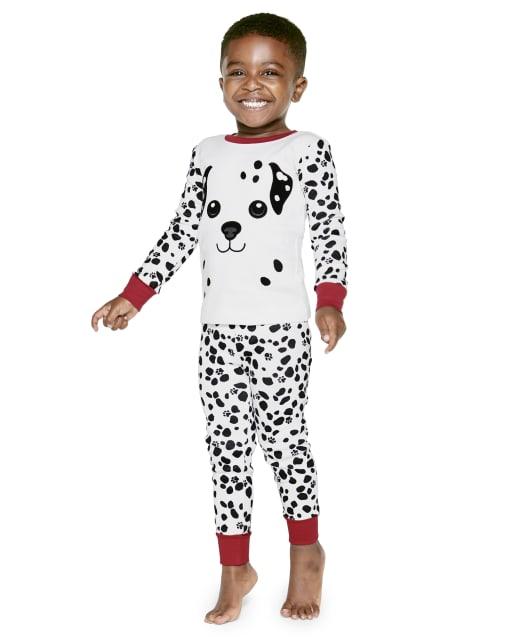 Boys Long Sleeve Dalmatian Snug Fit Cotton 2-Piece Pajamas - Gymmies