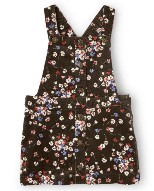 Falda niña de pana sin mangas con estampado floraltodo - Western Skies