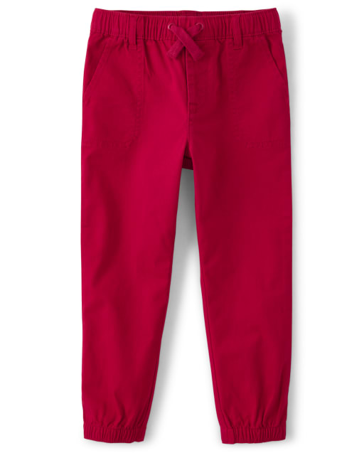 Boys Twill Pull-On Jogger Pants - Fire Chief