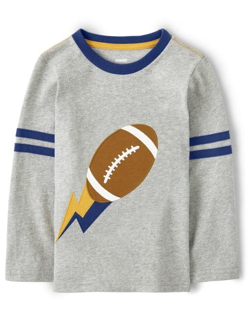 Camiseta de fútbol bordada de manga larga a rayas para niño - Future MVP