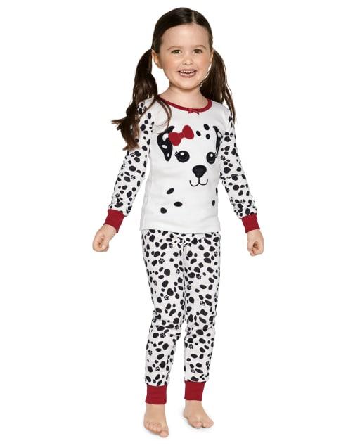 Pijama niña de 2 piezas de algodón con ajuste ceñido dálmata de manga larga - Gymmies
