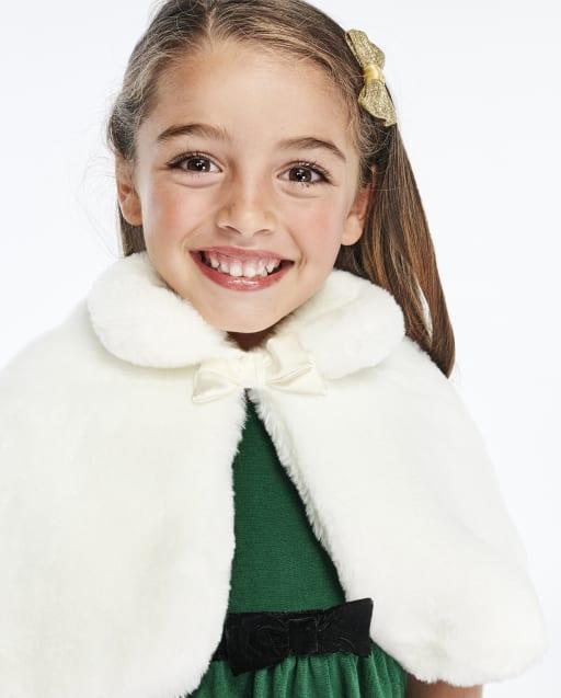 Capa de piel sintética para niñas - Celebraciones familiares Verde