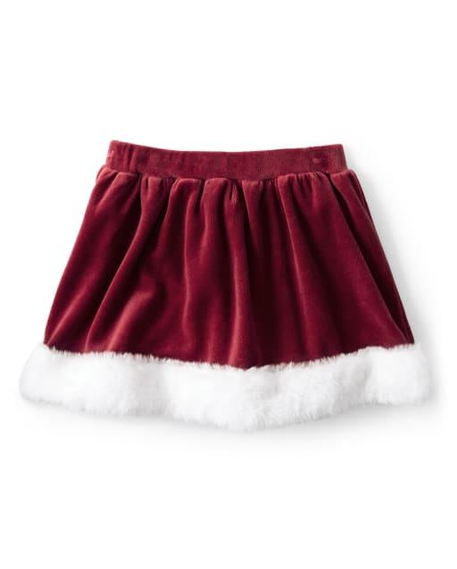 Falda pantalón niña velour faux fur - Ho Ho Ho