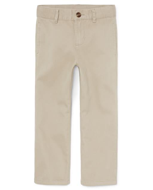 Pantalones chinos tejidos uniformes para niños