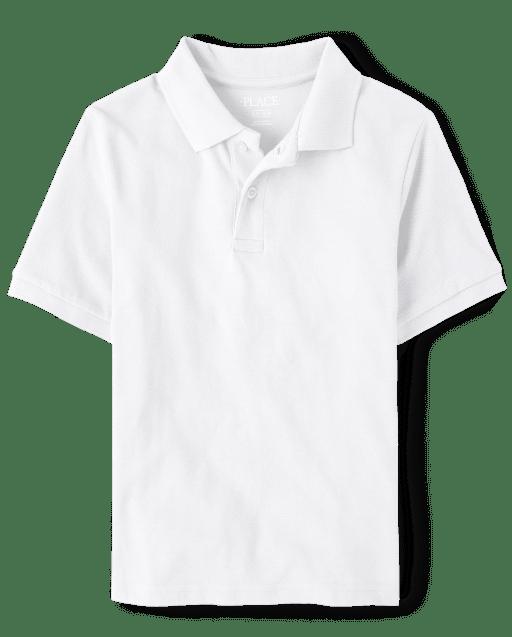 Polo de piqué de manga corta de uniforme para niños
