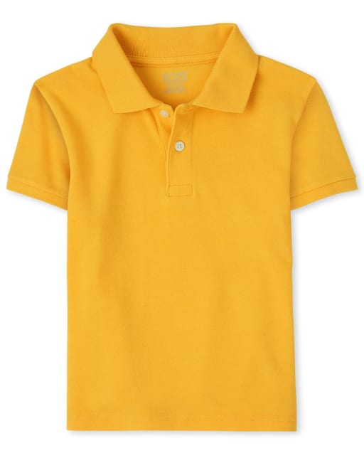 Boys Uniform Short Sleeve Pique Polo