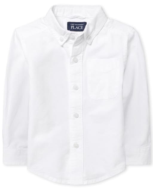 Toddler Boys Long Sleeve Oxford Button Down Shirt