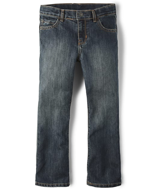 Boys Basic Bootcut Jeans - Dust Bowl Wash