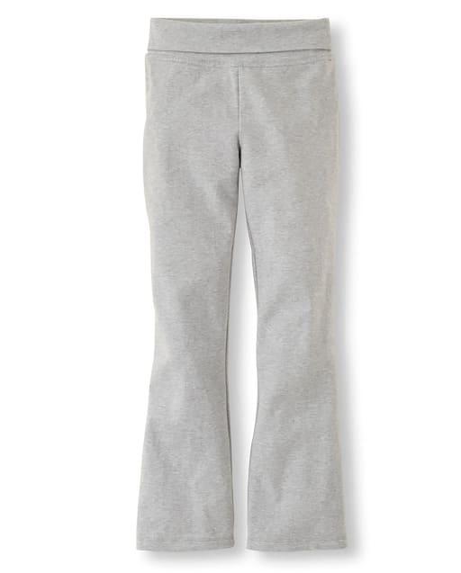 Pantalones de cintura plegables de punto activo uniforme para niñas