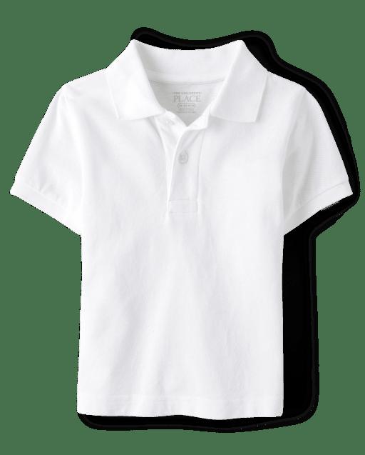 Polo de piqué de manga corta uniforme para bebés y niños pequeños