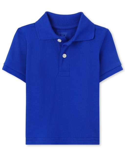 Baby And Toddler Boys Uniform Short Sleeve Pique Polo