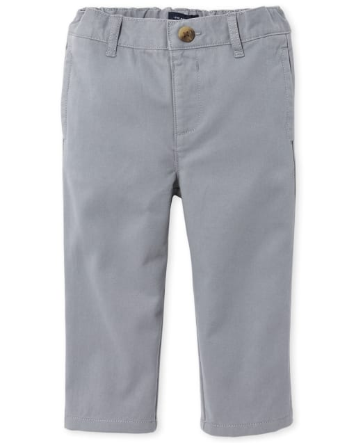Baby And Toddler Boys Uniform Woven Chino Pants