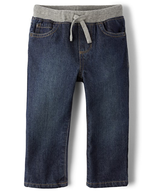 Baby And Toddler Boys Pull On Straight Jeans