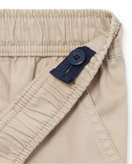 The Childrens Place Boys Uniform Pull On Cargo Shorts