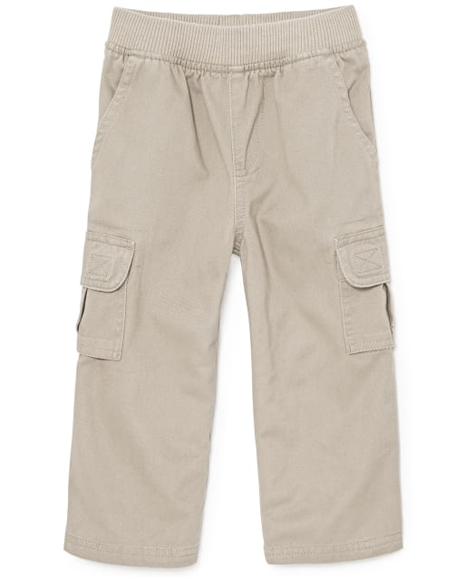 Baby And Toddler Boys Uniform Woven Pull On Chino Cargo Pants