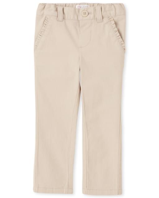 Toddler Girls Uniform Woven Skinny Chino Pants