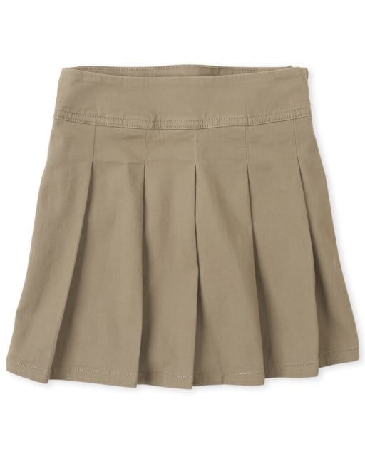 Girls Uniform Woven Pleated Skort