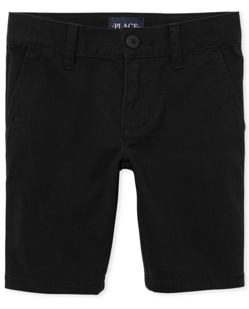 Girls Uniform Stretch Woven Chino Shorts